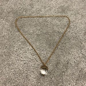 Glass Acorn Necklace